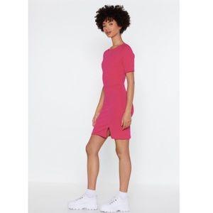 NASTY GAL Slit Down Bodycon Dress